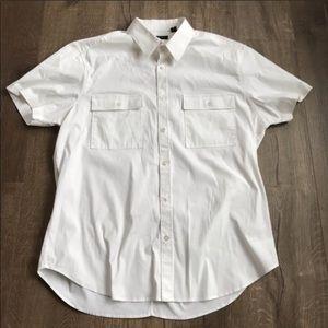 Theory Short Sleeve Button Up sz XL